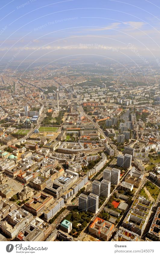 Berlin Center Capital city Middle Aerial photograph Bird's-eye view Downtown Berlin Berlin TV Tower Television tower alex Town Building