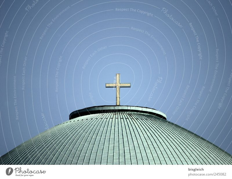 Sky Blue Green Religion and faith Germany Church Europe Roof Christian cross Tourist Attraction Crucifix Christianity