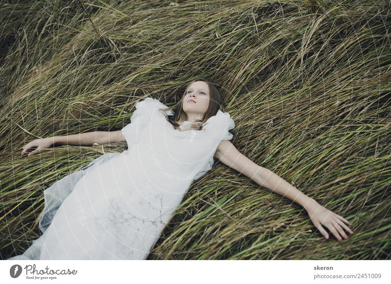 sad girl walking in autumn field Human being Vacation & Travel Nature Youth (Young adults) Young woman 18 - 30 years Adults Autumn Sadness Feminine Grass