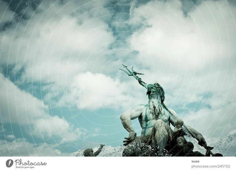 Sky Water Blue Clouds Environment Berlin Art Weather Germany Europe Culture Well Symbols and metaphors Historic Statue Landmark