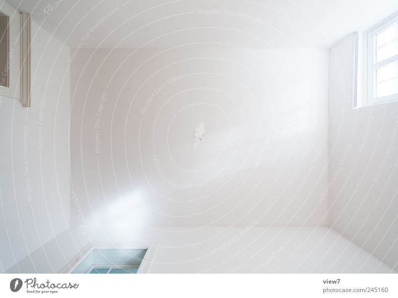 White Loneliness Far-off places Wall (building) Window Emotions Wall (barrier) Bright Door Room Elegant Concrete Modern Esthetic Interior design