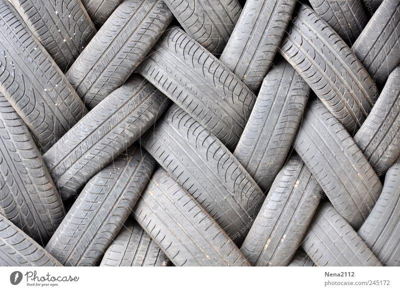 Gray Dirty Trash Wheel Workshop Motoring Tire tread Tire Stack Garage Recycling Road traffic Rubber Heap Movement Bond