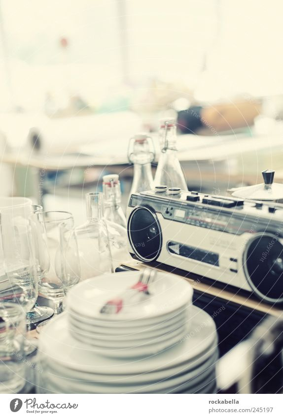 Style Glass Design Esthetic Retro Living or residing Bottle Plate Radio (broadcasting) Odds and ends Junk