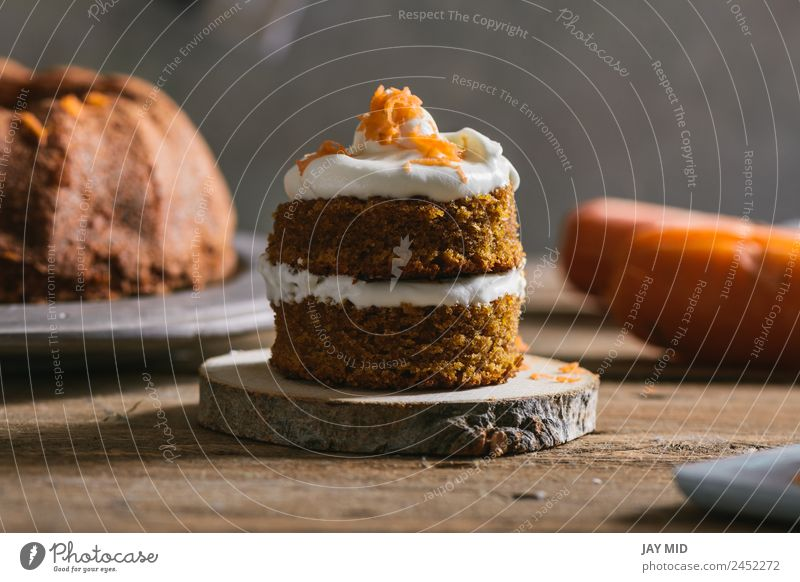 Mini carrot cake, stuffed with cream cheese Baked goods Cake Carrot Cream Small Cheese Food Healthy Eating Food photograph Gourmet Dessert Pumpkin Icing Cupcake