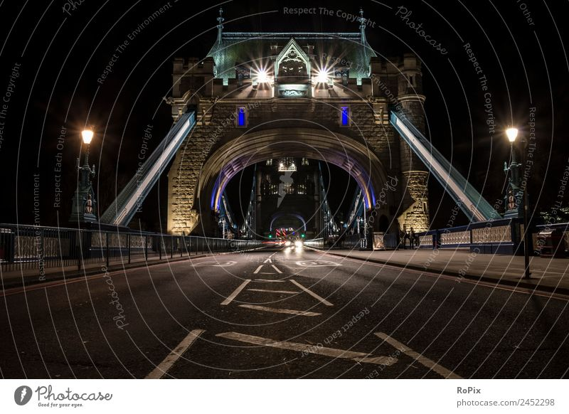 Tower Bridge at night Vacation & Travel Tourism Sightseeing City trip Logistics Architecture Environment London England Great Britain Europe Town Capital city