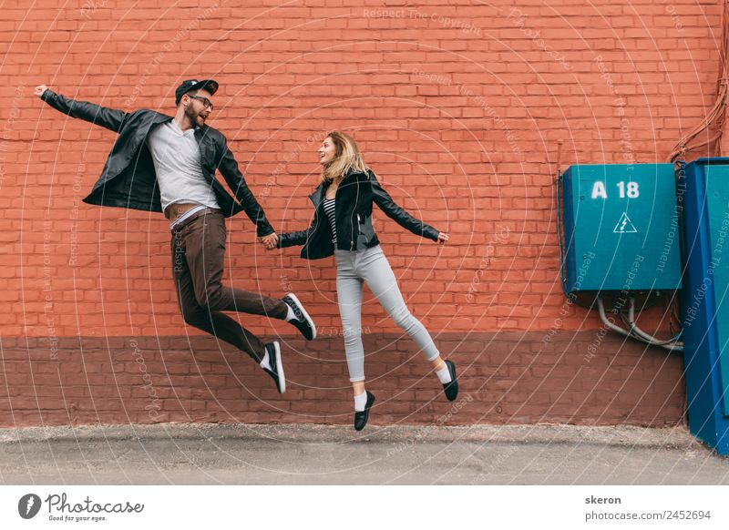 couple in love flying above the ground Lifestyle Well-being Leisure and hobbies Vacation & Travel Tourism Adventure Freedom Summer vacation Human being