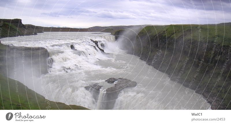 Nature Water Power Europe Energy industry Iceland Waterfall Environmental protection National Park Untouched Godafoss