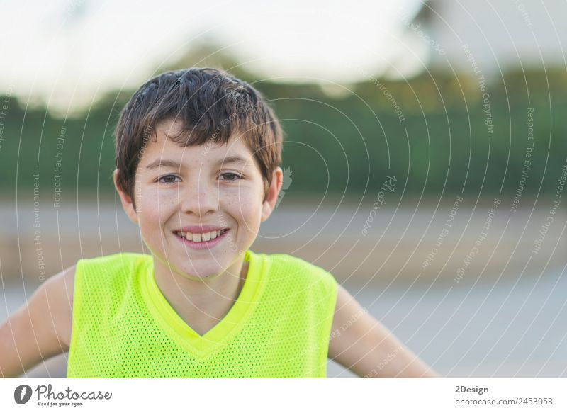 oung teen wearing a yellow basketball sleeveless smiling Lifestyle Joy Happy Relaxation Summer Sports Child Human being Boy (child) Young man