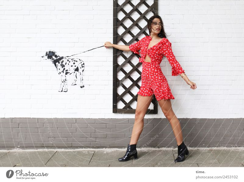 Woman Human being Dog Beautiful Animal Adults Life Feminine Movement Going Cool (slang) Curiosity Discover To hold on Surprise Watchfulness