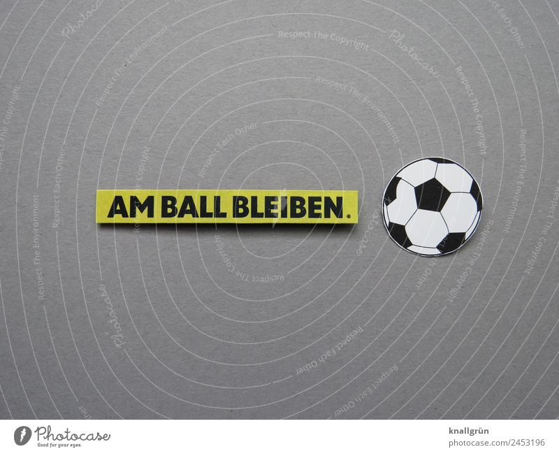 I'LL KEEP MY EYE ON THE BALL. Soccer Characters Signs and labeling Playing Together Athletic Gray Green Black White Emotions Moody Enthusiasm Optimism Brave