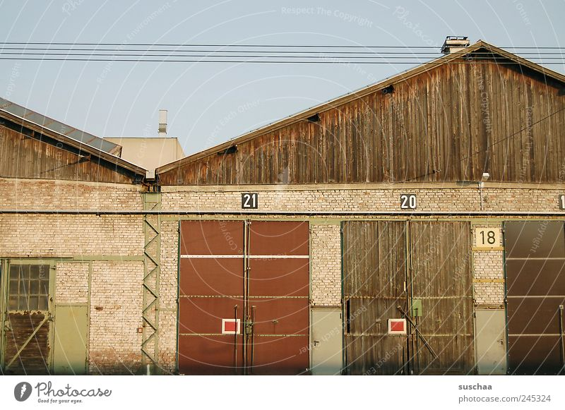 21 .. 20 .. 18 .. House (Residential Structure) Factory Building Wall (barrier) Wall (building) Digits and numbers Old Car door Gate Part of a building Roof