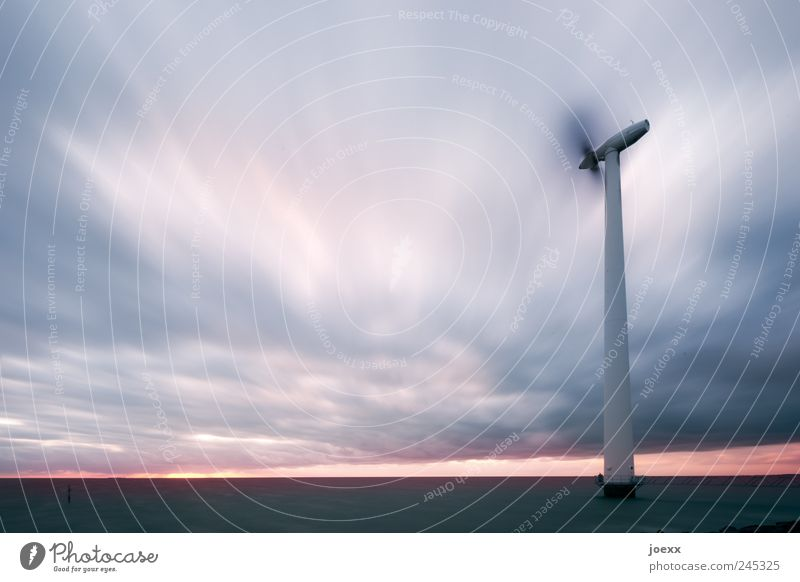Sky Nature Water Blue Ocean Clouds Movement Gray Environment Coast Weather Pink Wind Horizon Energy industry Climate