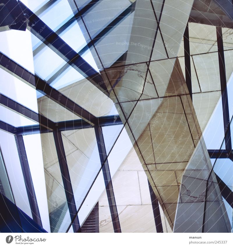 glazed Manmade structures Building Wall (barrier) Wall (building) Stairs Window State gallery Stone Glass Steel Line Exceptional Modern Crazy Bizarre Design Art