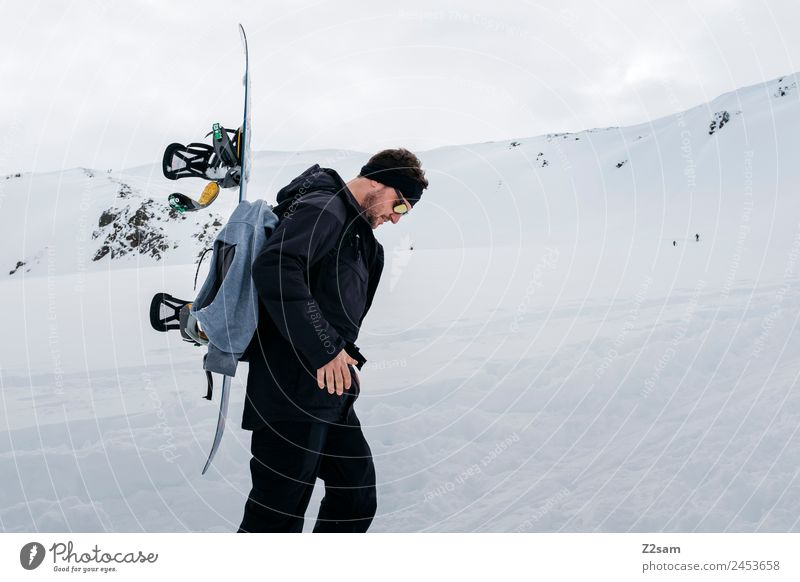 Ski tour | Snowboard | Ascent Leisure and hobbies Vacation & Travel Tourism Adventure Winter vacation Mountain Hiking Young man Youth (Young adults)