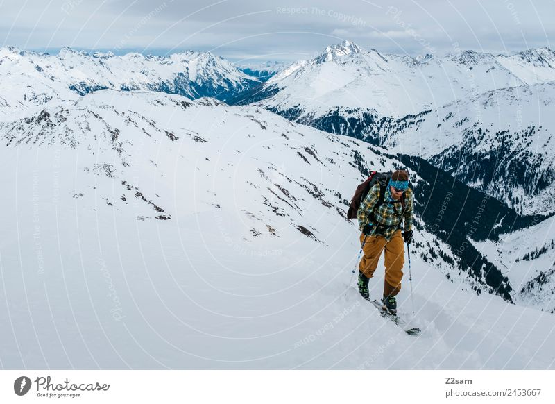 Ascent Freeskier Ski Tour Vacation & Travel Adventure Winter vacation Mountain Ski tour Young man Youth (Young adults) 30 - 45 years Adults Nature Landscape