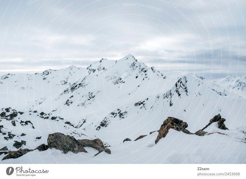 Arlberg | Austria | Panorama | Winter Environment Nature Landscape Snow Alps Mountain Snowcapped peak Esthetic Dark Simple Gigantic Infinity Natural Calm
