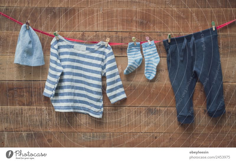 Baby clothes were drying at the clothesline Style Joy Life Child Boy (child) Family & Relations Fashion Clothing Skirt Line Hang Dirty Small Funny New Cute
