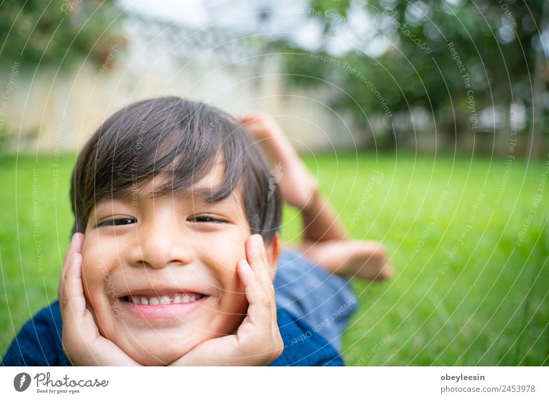 Little boy Smile and happy at the backyard Joy Happy Beautiful Face Playing Garden Climbing Mountaineering Child Human being Baby Toddler Boy (child) Man Adults
