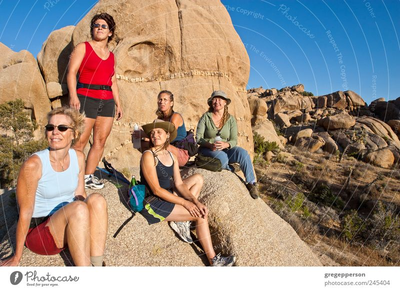 Group of women hiking. Adventure Hiking Climbing Mountaineering Woman Adults Friendship 5 Human being 30 - 45 years Nature Peak Athletic