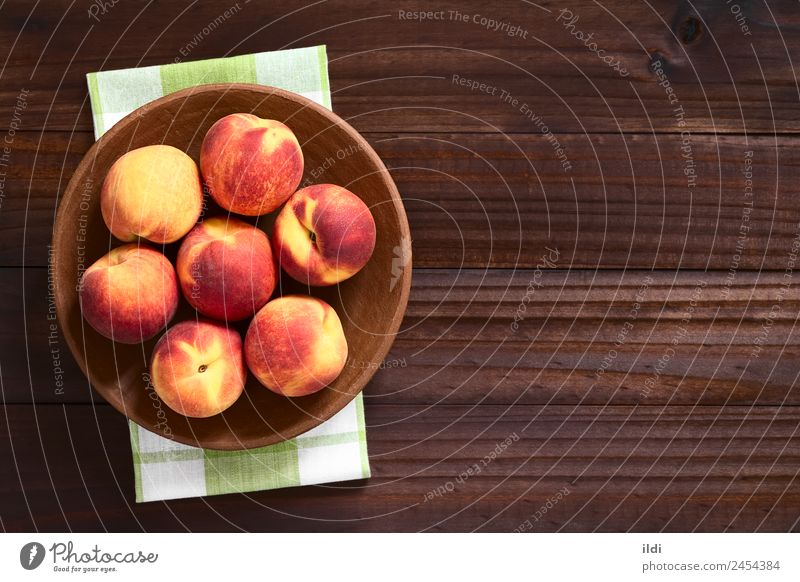 Fresh Ripe Peaches Healthy Natural Fruit Nutrition Horizontal Juicy Rustic Raw Snack Fuzz