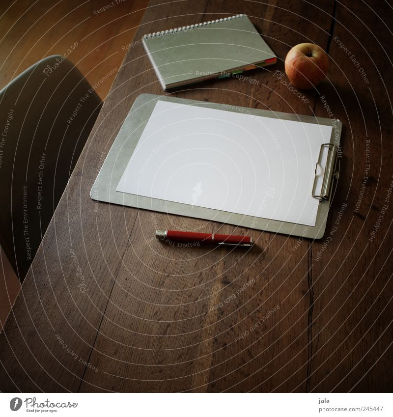 Work and employment Food Glass Flat (apartment) Study Table Academic studies Paper Esthetic Chair Apple Write Living or residing Pen Notebook Wooden table