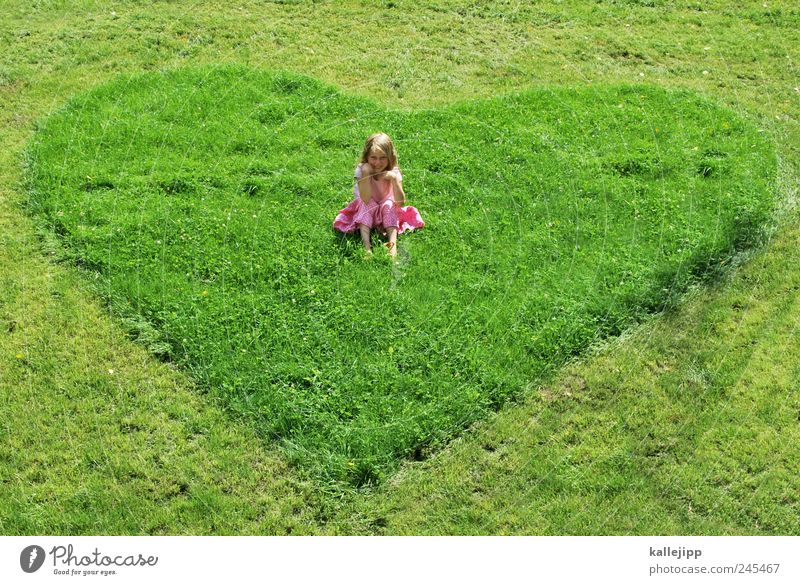 a heart for children Garden Human being Girl Infancy Life 1 8 - 13 years Child Park Meadow Sign Heart Crouch Sit Love Protection Trust Considerate