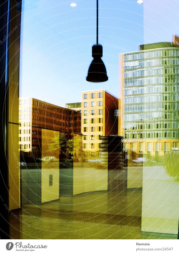 Glass and Light Reflection House (Residential Structure) Building Facade Window Potsdamer Platz Architecture Colour Modern Graffiti Berlin