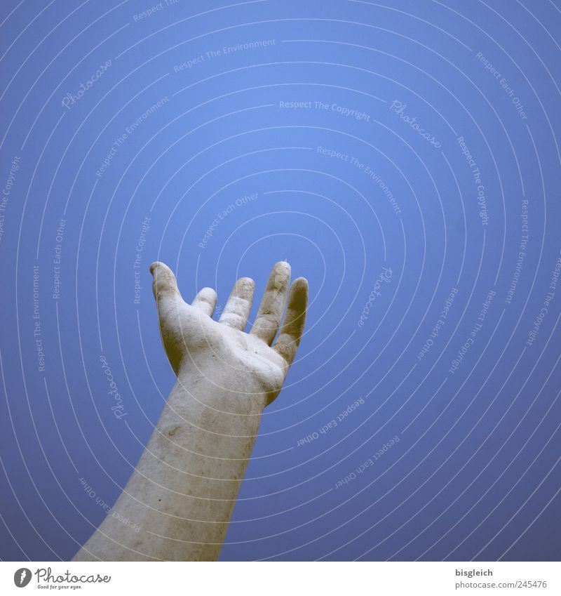 Sky Hand White Blue Heaven Stone Arm Fingers Help Longing Sculpture Expectation Outstretched