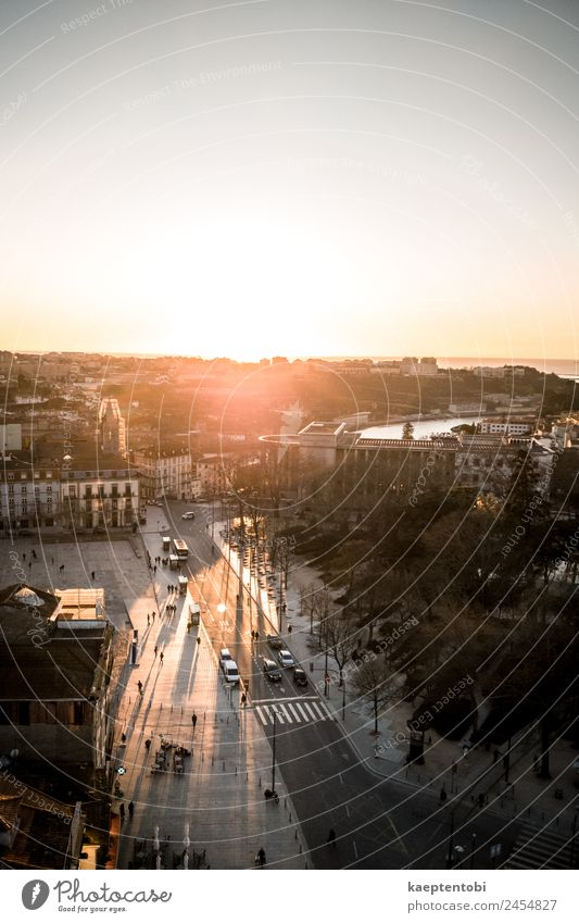 Sunst Over Porto Vacation & Travel Summer Town Joy Street Lifestyle Tourism Orange Moody Trip Leisure and hobbies Park Church Europe Adventure