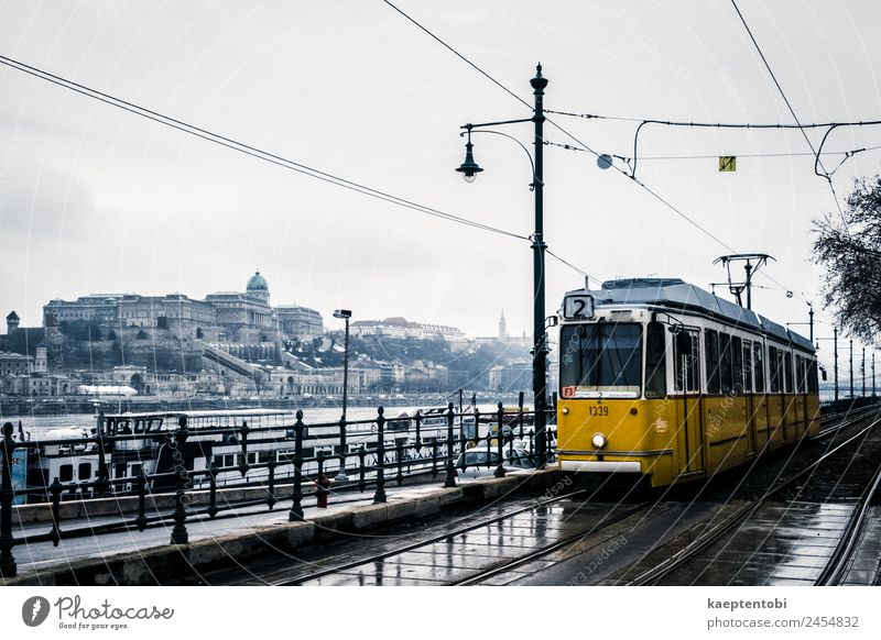 Rainy Winter Day in Budapest Vacation & Travel Town Yellow Spring Snow Tourism Moody Trip Snowfall Transport Weather Europe Adventure Skyline