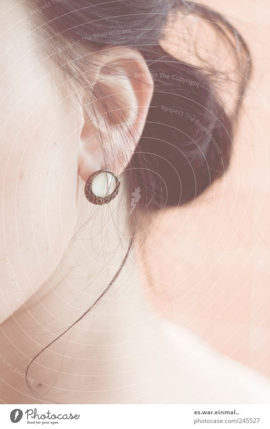 Feminine Hair and hairstyles Ear Listening Earring