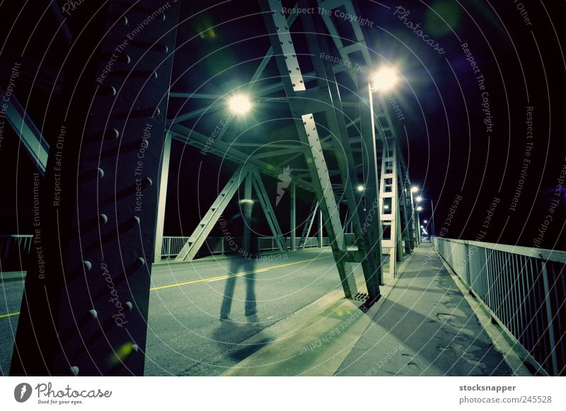 Lonely Ghost Ghosts & Spectres  Man Walking Blur Bridge Night Dark Light Street way Loneliness