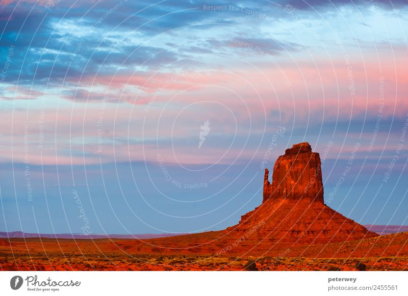 Monument Valley at sunset, Utah, USA Leisure and hobbies Vacation & Travel Tourism Trip Adventure Far-off places Freedom Sightseeing Expedition Mountain Hiking