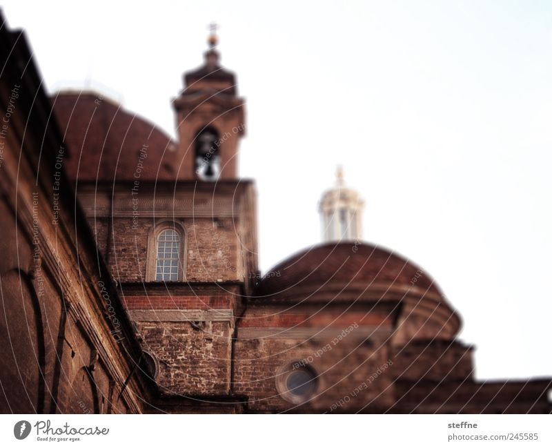 Architecture Church Italy Tourist Attraction Partially visible Section of image Cathedral Tuscany Old town Domed roof Florence Basilica Church spire