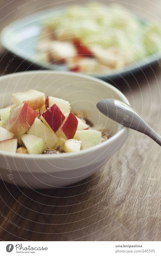fruit muesli Food Lettuce Salad Fruit Cereal Nutrition Breakfast Organic produce Vegetarian diet Diet Crockery Plate Bowl Spoon Healthy Overweight Table Fresh