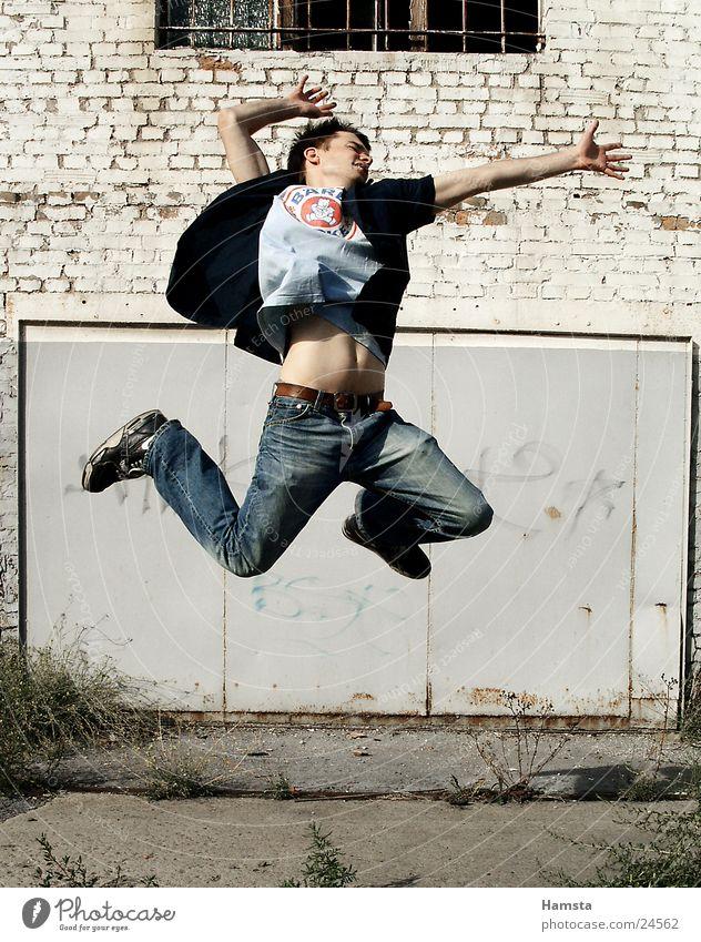 drugNroll Jump High spirits Man Joy one person air guitar Success Wild animal Motive Movement Lust Power