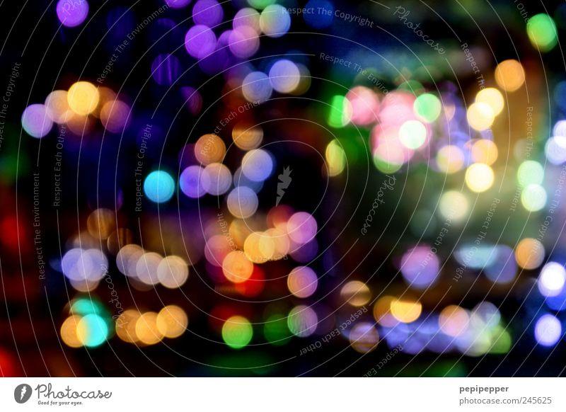 rush hour Sphere Glittering Bright Kitsch Round Multicoloured Light Light (Natural Phenomenon) Visual spectacle Point of light Exterior shot Experimental