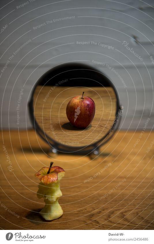 Mirror Mirror... Food Fruit Apple Nutrition Eating Organic produce Vegetarian diet Diet Elegant Style Design Exotic Save Healthy Health care Healthy Eating Art