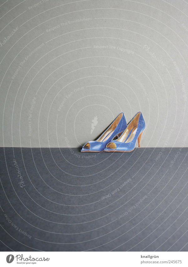 Blue Beautiful Joy Emotions Gray Happy Style Fashion Footwear Elegant Glittering Design Modern Stand Cool (slang) Desire
