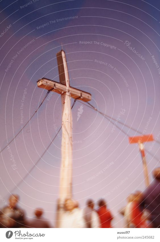 Mountain Hiking Violet Hill Climbing Roadside calvery Peak cross