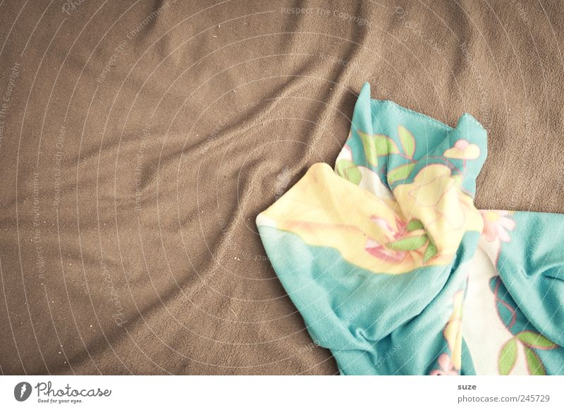 Cuddle alarm Cloth Lie Cuddly Soft Brown Blanket Wrinkles Background picture Material Colour photo Multicoloured Interior shot Pattern Structures and shapes