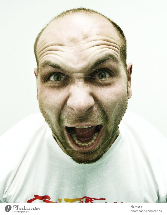 Human being Anger Scream Facial expression Aggression Loud Outbreak