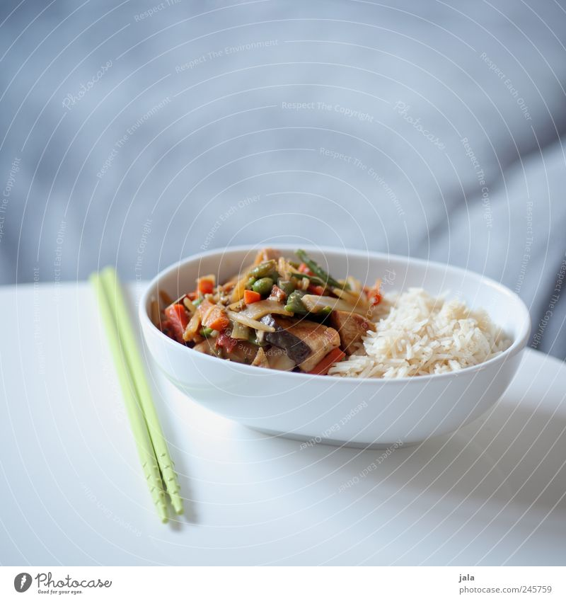 thai food Food Vegetable Rice Nutrition Lunch Organic produce Vegetarian diet Asian Food Bowl Cutlery Delicious Appetite Colour photo Interior shot Deserted