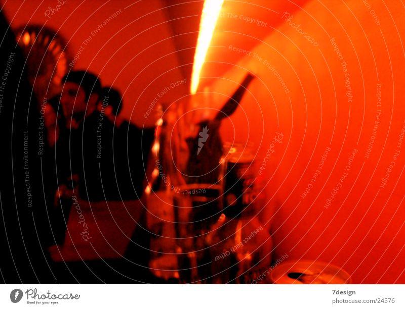 Bottles in the orange sea Way out Disco Design Lomography Orange Lighting Human being