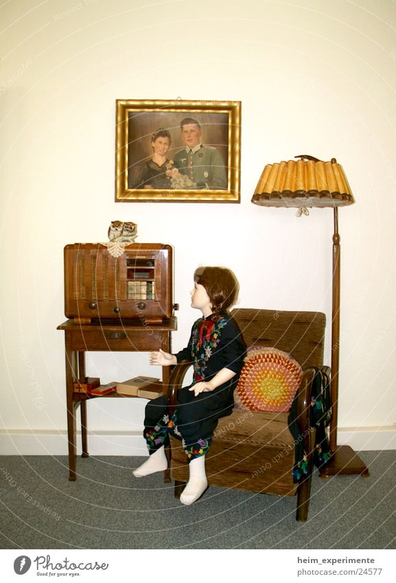 Lamp Style Music Flat (apartment) Living or residing Past Historic Doll Radio (broadcasting) Armchair Exhibition Equipment Iconic