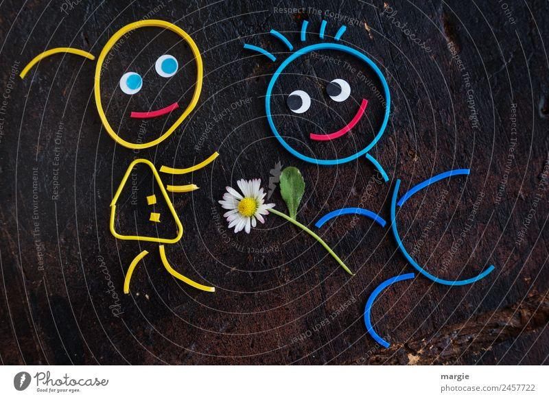 Woman Human being Man Plant Blue Flower Black Adults Yellow Feminine Masculine