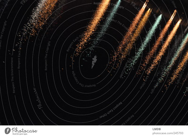 60° diagonal Gold Black Diagonal Reflection Water Surface of water River Waves Flow Background picture Dark Stripe Colour photo Exterior shot Abstract Deserted