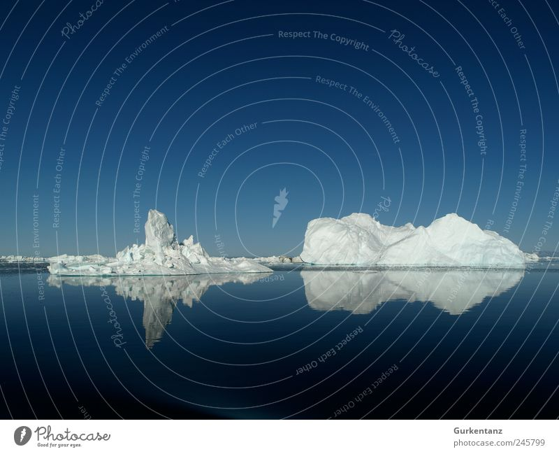 100 - Anniversary on the Rocks Environment Nature Elements Water Climate Climate change Ice Frost Cool (slang) Fantastic Large Infinity Blue White Greenland