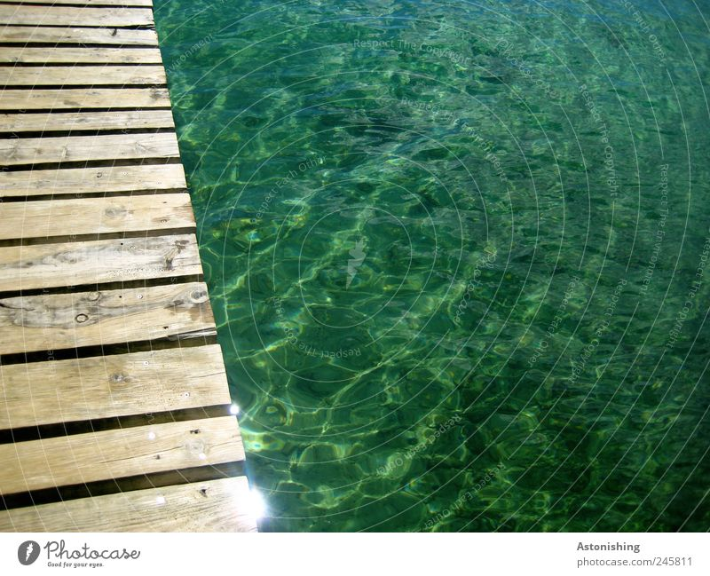 footbridge Environment Water Weather Beautiful weather Waves Coast Ocean Cold Wet Blue Brown Vacation & Travel Croatia Medulin Mediterranean sea Green