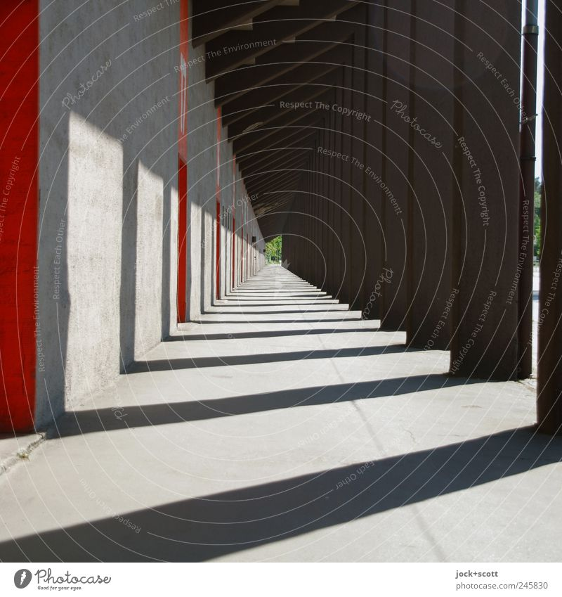Lanes & trails Illuminate Power Modern Perspective Esthetic Concrete Warm-heartedness Stripe Manmade structures Long Row Irritation Collection Sharp-edged